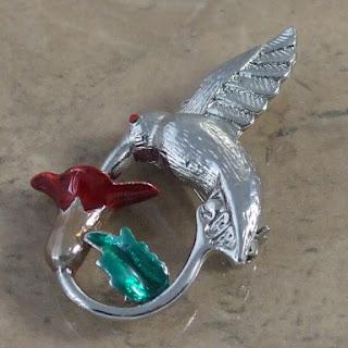 Hummingbird brooch 1990s