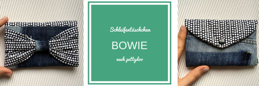 Rezension über das Handytäschchen Bowie von pattydoo