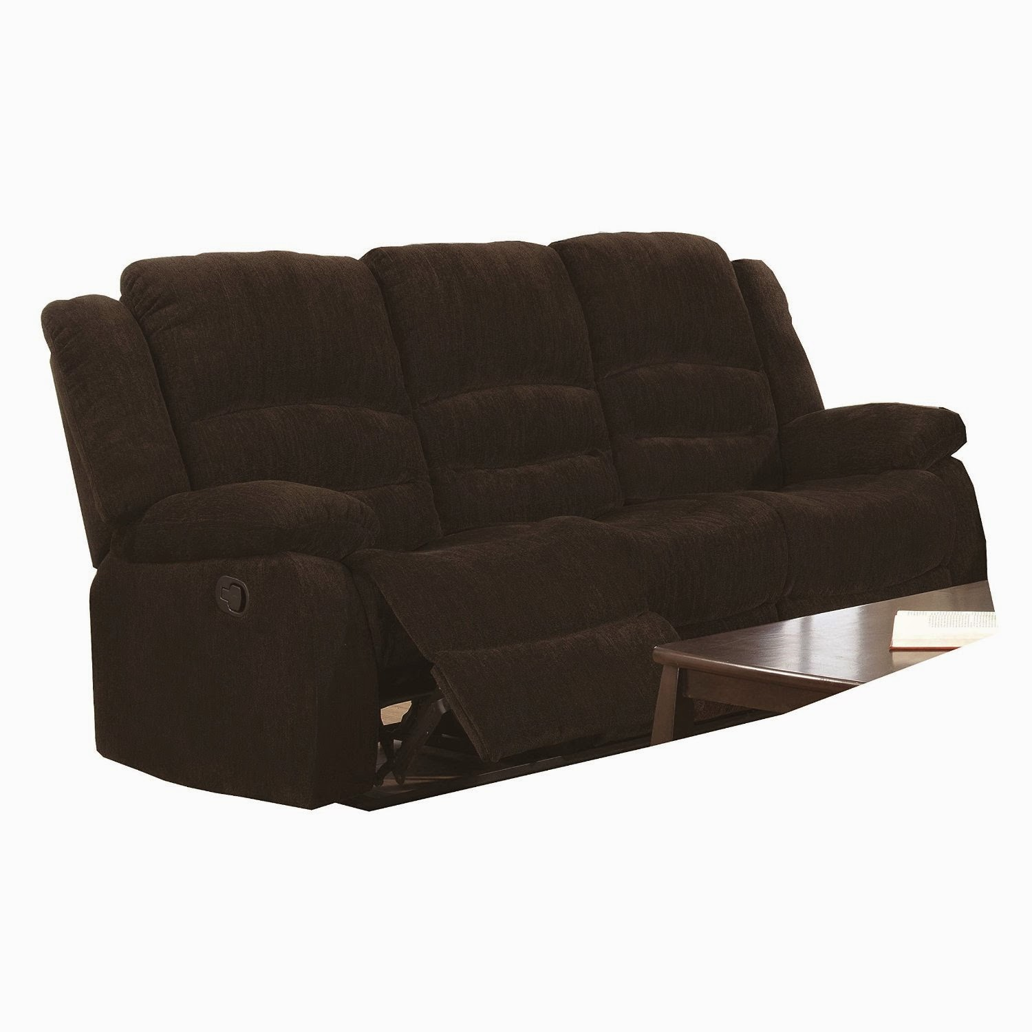 Cheap Sofas On Sale: Cheap Recliner Sofas For Sale: Triple Reclining Sofa Fabric