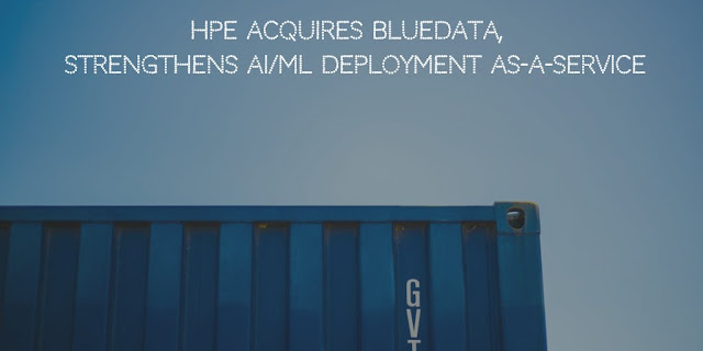 """HPE (Hewlett Packard Enterprise) has acquired BlueData, a company that uses Docker containers to deploy large-scale machine learning and big data analytics environments in a cost-effective way. Financial terms were not disclosed.    Santa Clara based BlueData was founded in 2012. HPE is planning to integrate BlueData's software platform into its own software-defined infrastructure.     HPE also recently acquired Plexxi, a software-defined data fabric networking technology company capable of bolstering the vendor's hybrid cloud capabilities.  AI/ML Deployment Simplifications Customers demand more agility for their data science teams and deploying big data and AI/ML solutions involve a lot of complexity/time thereby increasing the cost. Installing AI/ML frameworks are also complicated and time-consuming. To quote specifically,  TensorFlow, PyTorch, MXNet, TensorRT, Cloudera, Hortonworks, MapR, Spark, Kafka, H2O, are some of the tools for AI/ML, deep learning and Big Data. This limits AI researcher's ability to exploit new features from the frameworks. The complicated and time-consuming process of installing framework can be simplified with containers. Simple pull and run commands come in handy in using the latest applications. Thus containers can reduce overall deployment complexity, leading to cost savings.    As pointed out in the announcement, the TAM (Total Addressable Market) for artificial intelligence/machine learning (AI/ML) and big data is forecasted to reach USD $160 billion. However, organizations are not equipped with AI/ML skills to extract business value from ever-growing data and there is a demand for faster and cost-effective solutions that can easily deploy AI/ML and big data analytics.      HPE Logo    Executive Opinion SVP and GM, Storage and Big Data Global Business Unit at HPE, Milan Shetti, said, """"BlueData has developed an innovative and effective solution to address the pain points all companies face when contemplating, implementing, and deployi"""