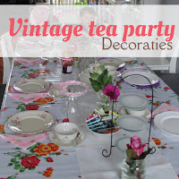 Vintage tea party - decoraties