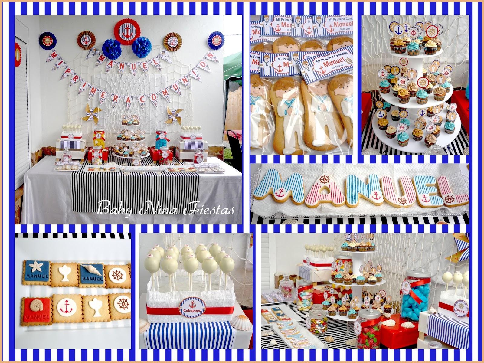 Baby nina fiestas comuni n de manuel for Mesa dulce marinera