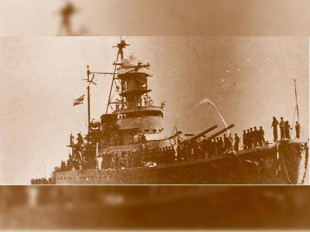 14 January 1941 worldwartwo.filminspector.com Thai coastal defense ship Thonburi