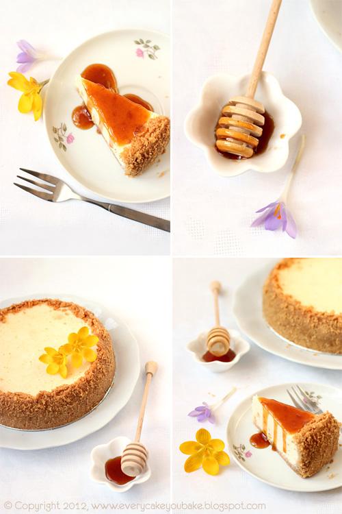 sernik miodowo-pomarańczowy z serem ricotta i syropem miodowym