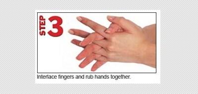 langkah ketiga bersihkan sela jari