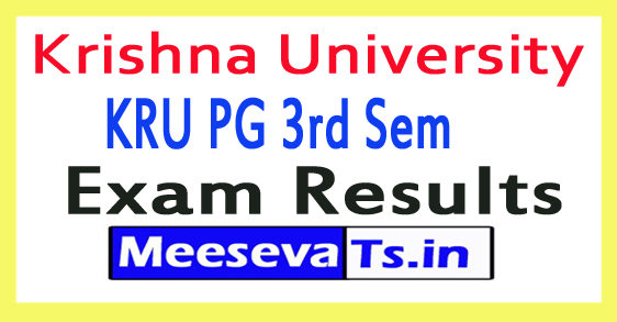 Krishna University KRU PG 3rd Sem Results 2017