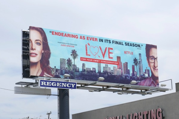 Love season 3 Emmy consideration billboard