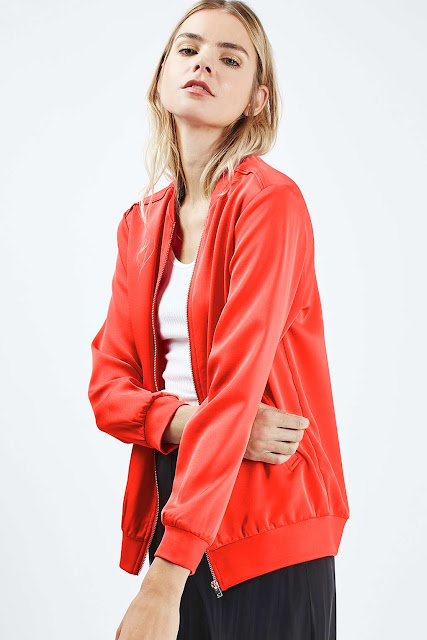 red satin jacket,
