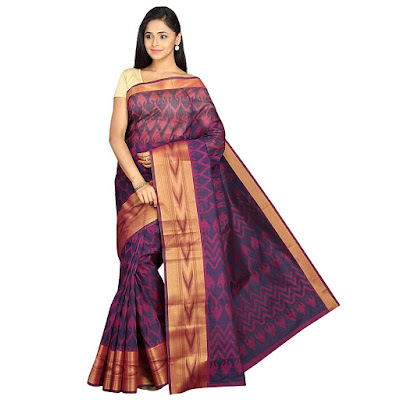 Polycotton Printed Saree