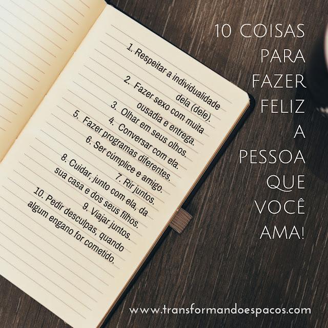 10 coisas para fazer feliz a pessoa que você ama