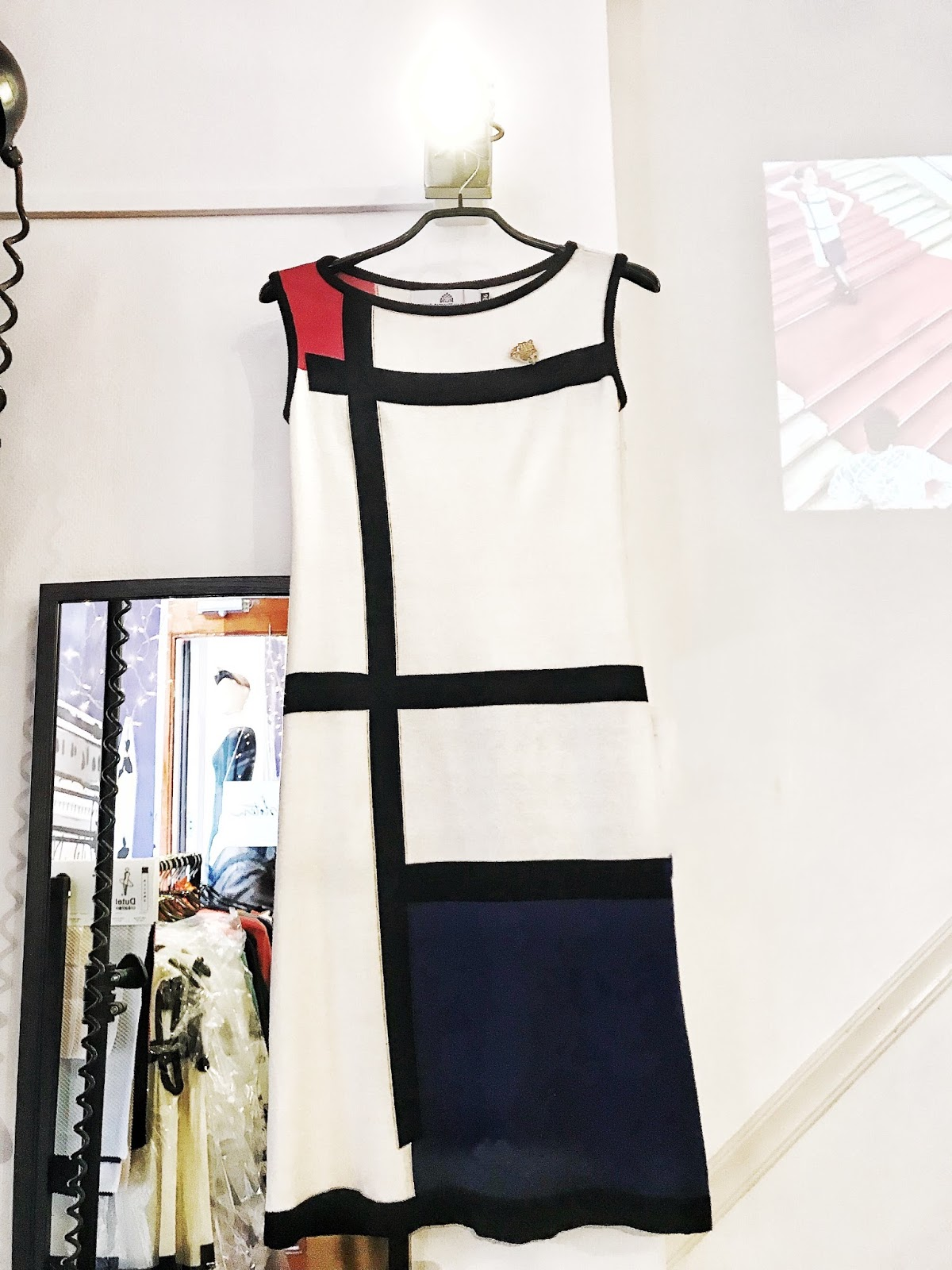 Shopping in The Hague Mondrian Dress Michael Barnaart
