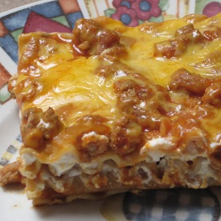 Gobby's Cream Cheese Casserole Lasagna