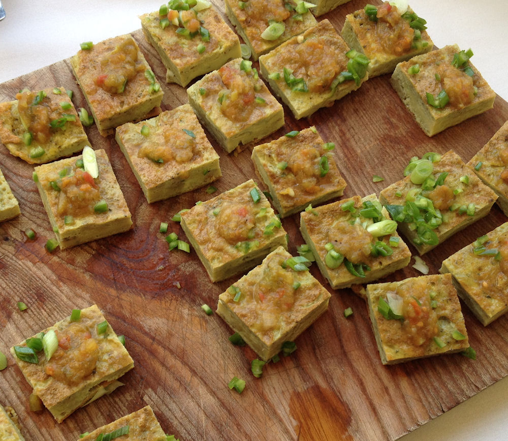 Picture of omelette canapes served at Blog Camp River Cottage