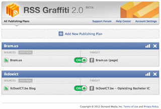 Cara Share Otomatis Artikel blog ke Facebook, Twitter menggunakan RSS graffiti