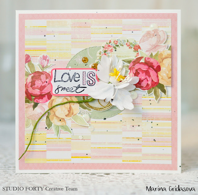 love is together forever card @akonitt #card #cards #studioforty #clearstamp #by_marina_gridasova #sticker #clearstickers #cardmaking