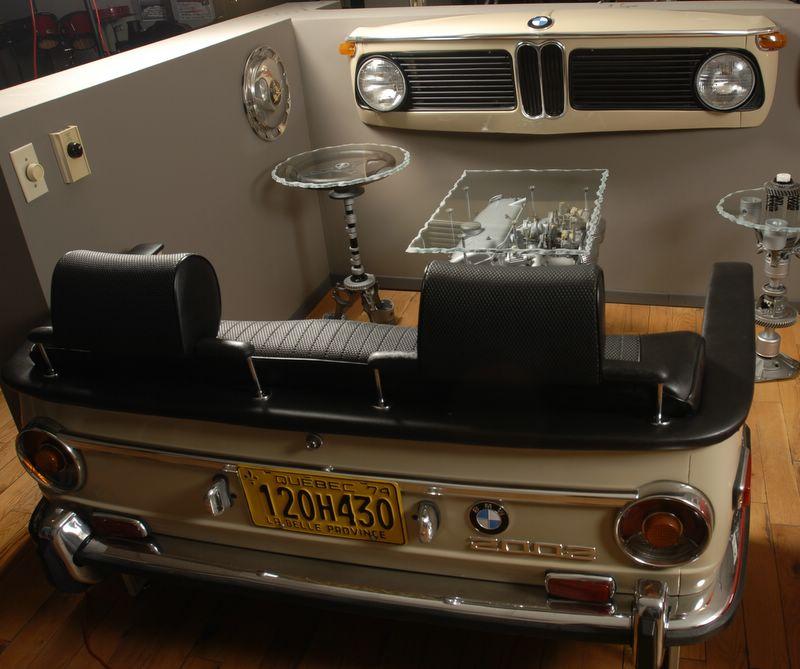 Baurspotting: Car Furniture... Made From Car Parts