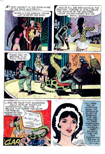 Magnus Robot Fighter v1 #11 gold key silver age 1960s comic book page art by Russ Manning