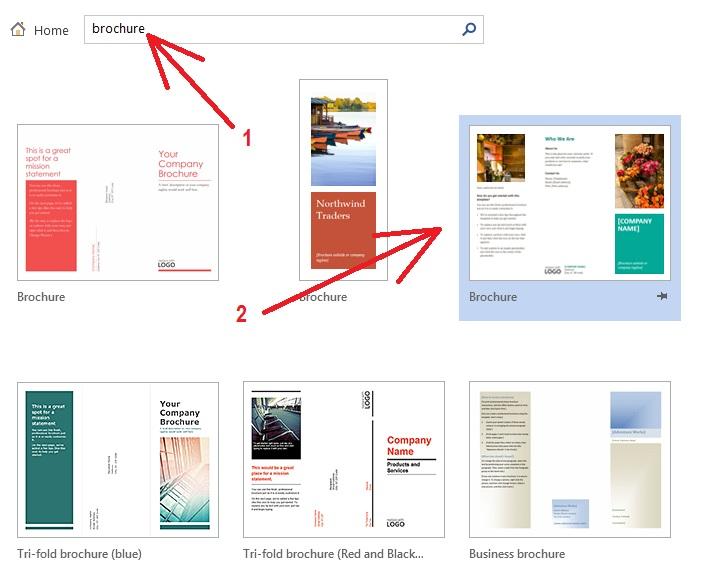 Cara Membuat Brosur Di Microsoft Word 2013 2016