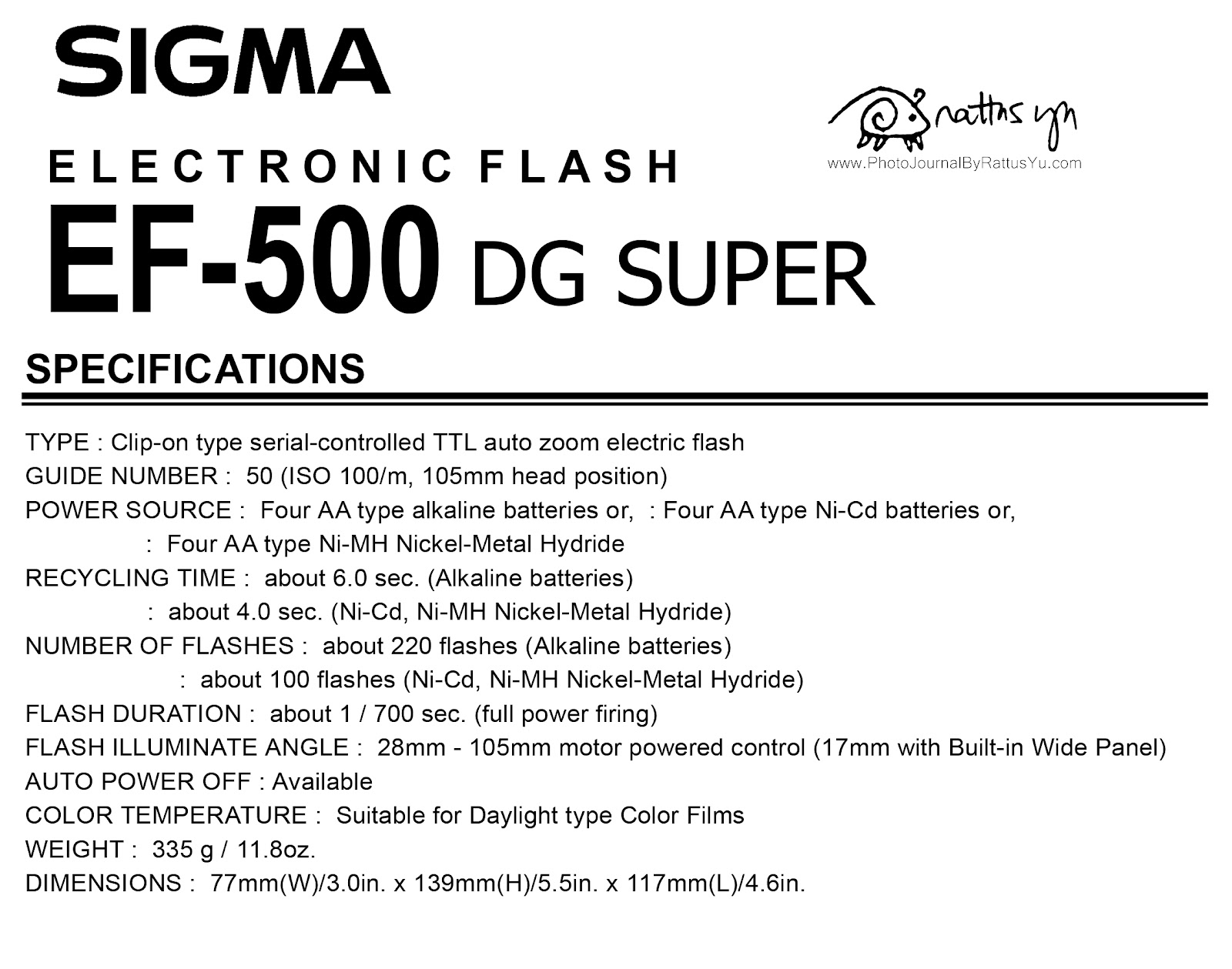 Sigma EF-500 DG Super (for Nikon)