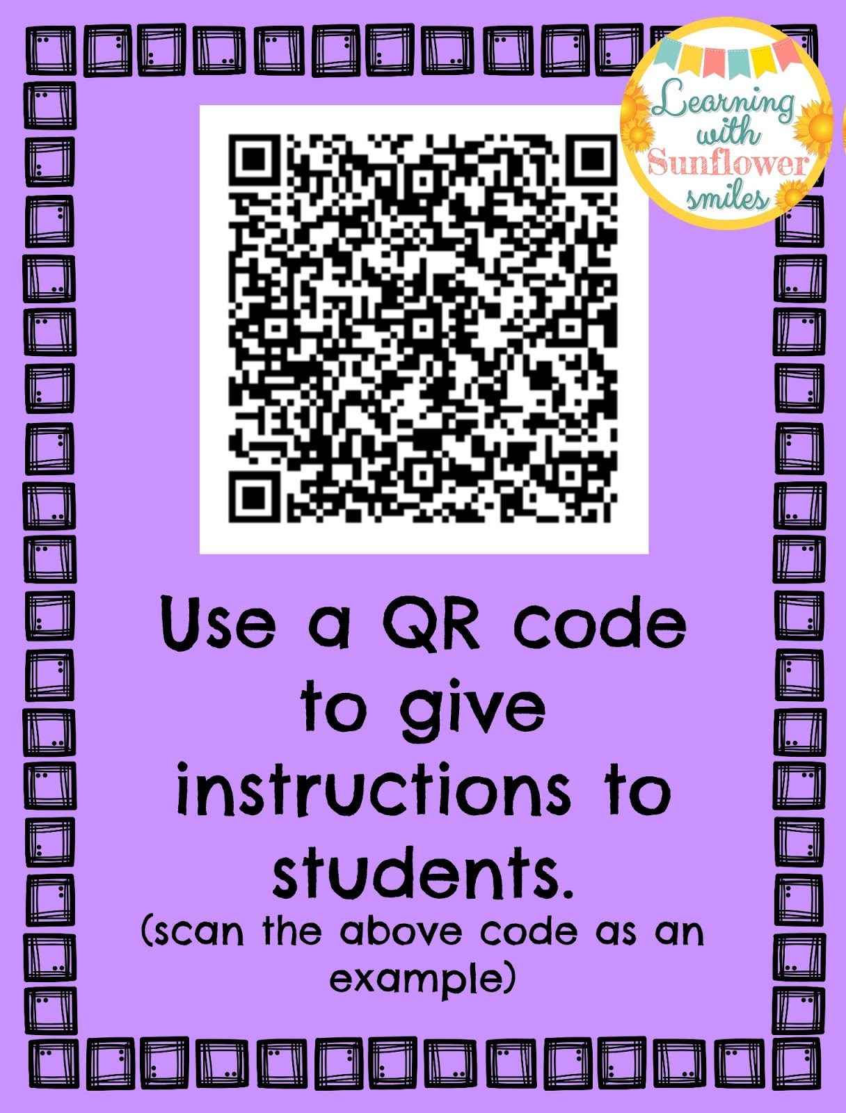 Learning with Sunflower Smiles: Using QR codes in the ...