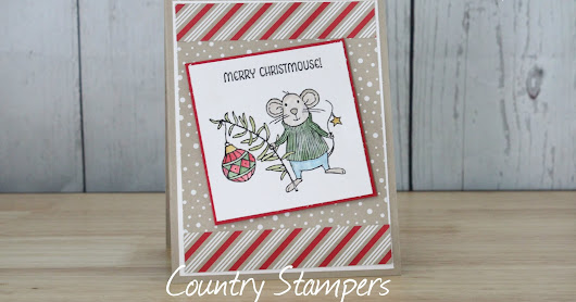 12 Days of Christmas Day 1 Merry Christmouse Card