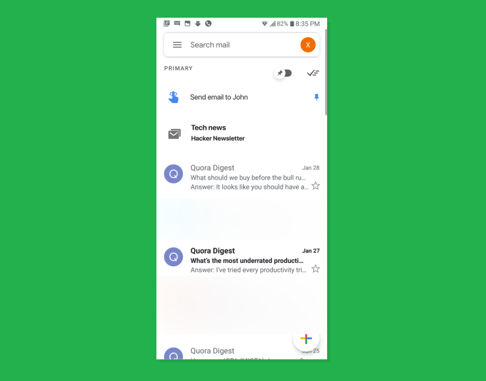 Gmail is testing bundles, reminders, and other Inbox features for Android users