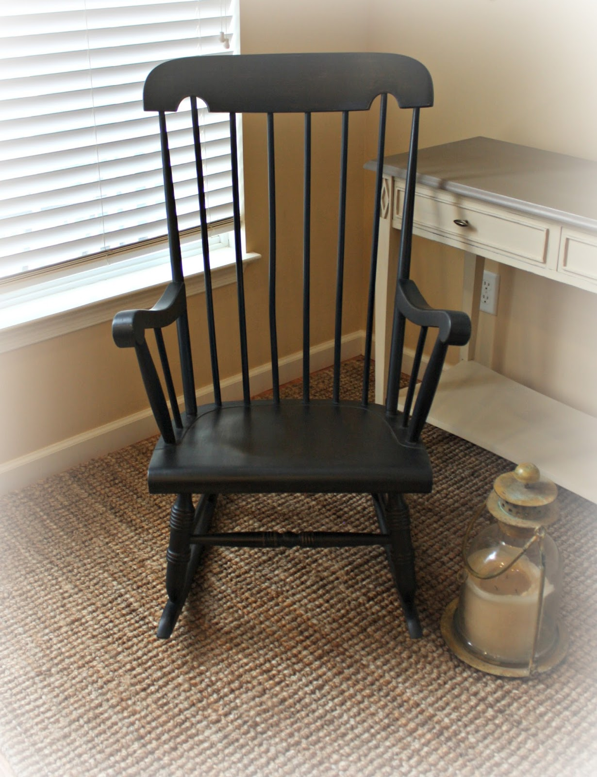 Rocking chair painted in Graphite chalk paint