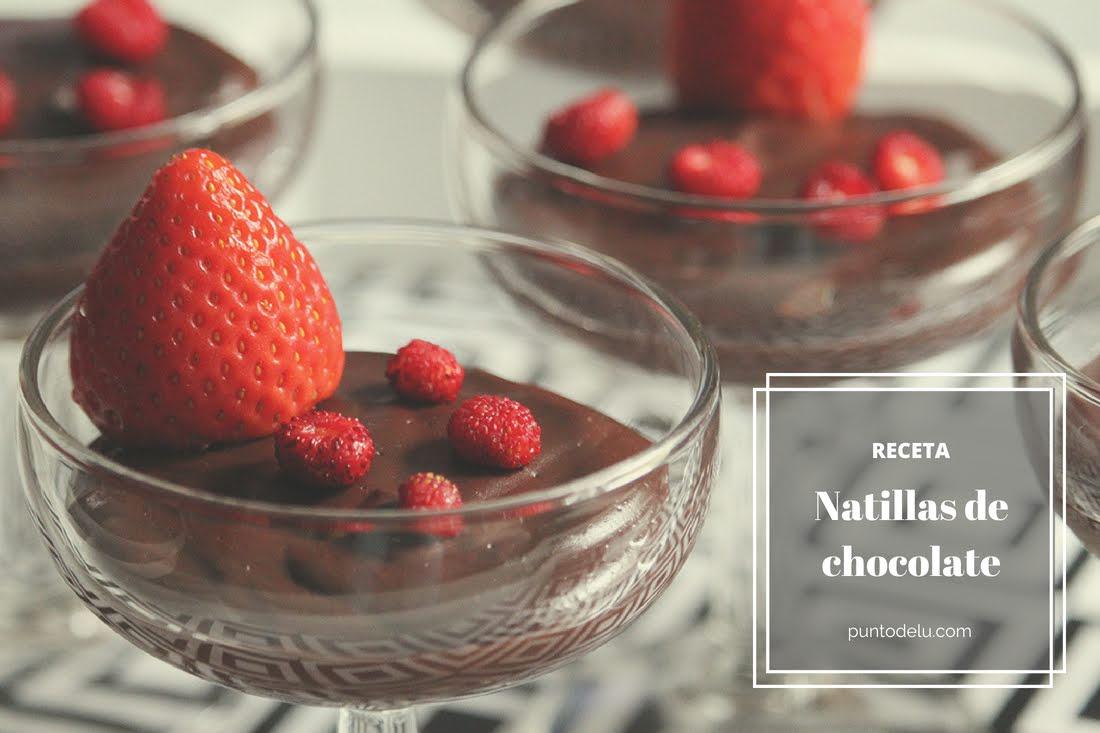 Receta para hacer natillas de chocolate Puno de Lu