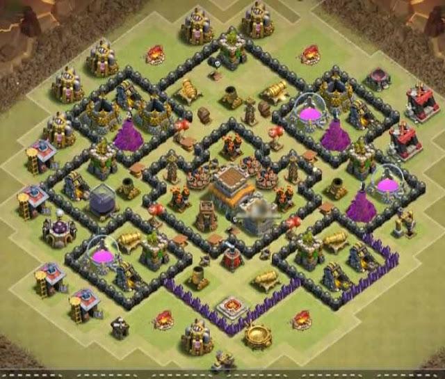 anti dragon th8 war base 2018