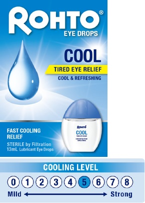 Poster explaining cool Rohto eye drop