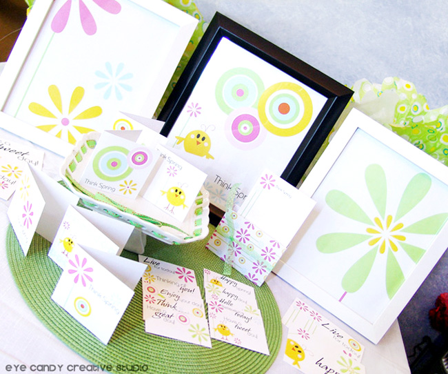 think spring stationery collection, postcards, paper, love notes, art prints