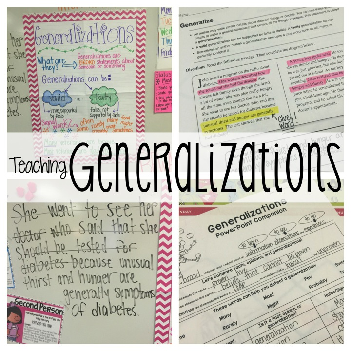Drawing Conclusions and Making Generalizations Essential Question