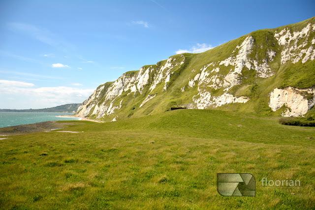 Białe klify Samphire Hoe w Anglii - co warto zobaczyć w Dover?