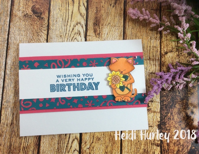 Wishing you a very happy birthday by Heidi features Newton's Sunflower by Newton's Nook Designs; #newtonsnook