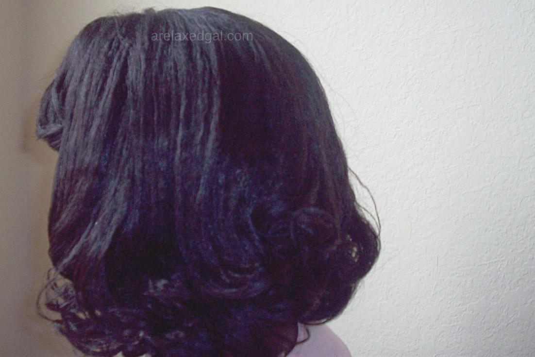 Steam roller results 1 week post relaxer touch up | A Relaxed Gal