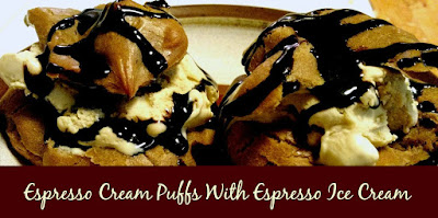 Espresso Cream Puffs With Espresso Ice Cream