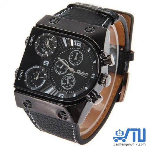 oulm 9315 jam tangan unik triple time