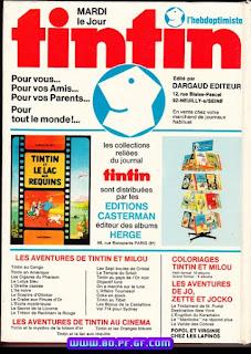 Recueil, Tintin L'hebdoptimiste, numéro 12, 1975