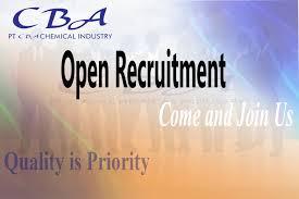 Lowongan Kerja PT CBA Chemical Industry