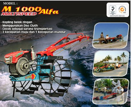 Traktor Tangan Quick M 1000 Alfa
