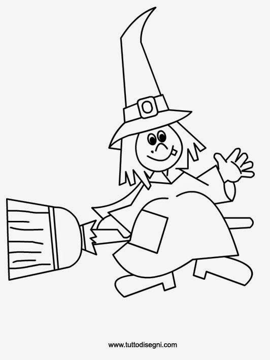 Disegno strega di Halloween da colorare TuttoDisegni - Streghe Di Halloween  Da Colorare f5eb1b2ac0bc