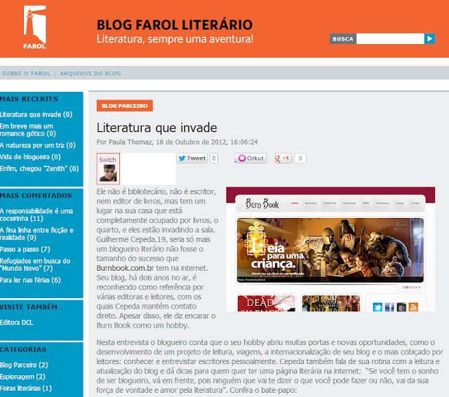 Especial: Entrevista para Editora Farol literario 6