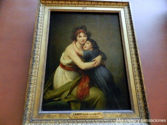 Retrato, Vigée Lebrun, Museo, Louvre, París