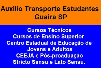 Auxilio Transporte Estudantes Guaíra SP
