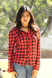 Actress Hebah Patel Stills in Blue Denim Jeans at Nanna Nenu Naa Boyfriends Movie Success Meet  0072.JPG