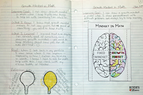 Growth Mindset Math Journal Entry