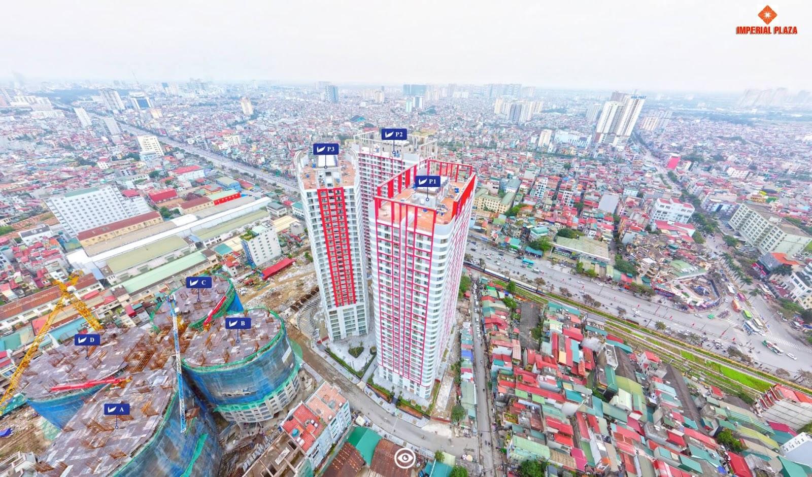 Tiến độ xây dựng toà IP1 dự án chung cư Imperial Plaza