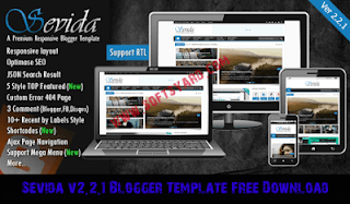sevida v2.2.1 blogger template