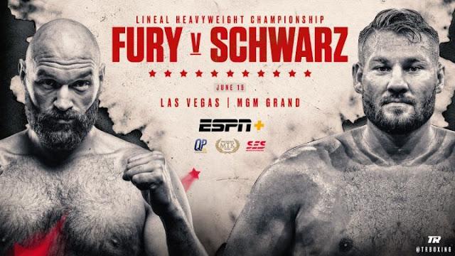 Tyson Fury Vs Tom Schwarz poster