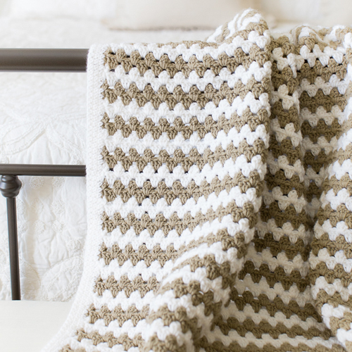 Simple Granny Stripe Afghan - Free Pattern